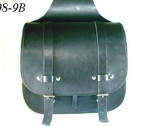Borsa singola laterale cuoio nero artigianale