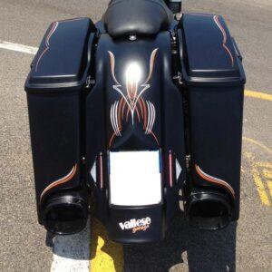 Kit Retrotreno Vallese Garage per Touring fino al 2008 per scarichi Monster Ovals
