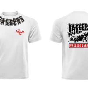 T-Shirt Vallese Garage Baggers Rule White-Black