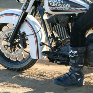 Burly Brand Floorboards, MX-Style, Powder Coated, Black Touring 99-20 Softail 00-17