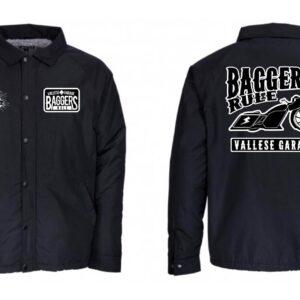 Windbreaker Vallese Garage Baggers Rule Black
