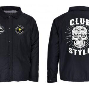 Windbreaker Vallese Garage Trampoloco Club Style Black